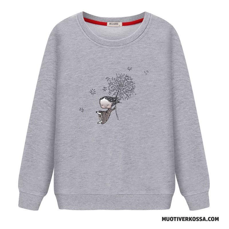 Bluza Z Kapturem Damskie Bluzy Z Kapturem Tendencja Cienkie Pullover Okrągły Dekolt Student Biały