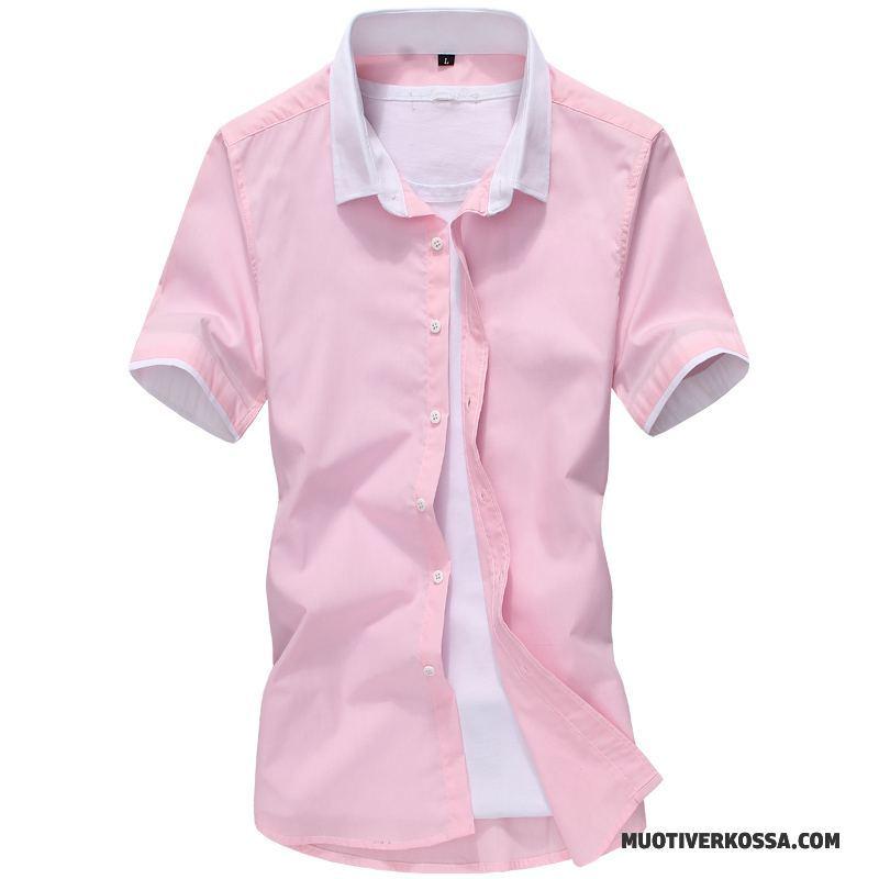 Koszula Krótki Rękaw Męskie Koszula Z Krótkim Rękawem Szycie  3QbOw