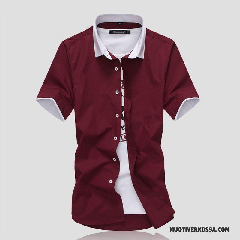 Koszula Krótki Rękaw Męskie Koszula Z Krótkim Rękawem Szycie