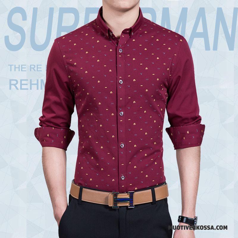 Koszula Męskie 2018 Biznes Cienkie Tendencja Slim Fit Casual  KmQgY