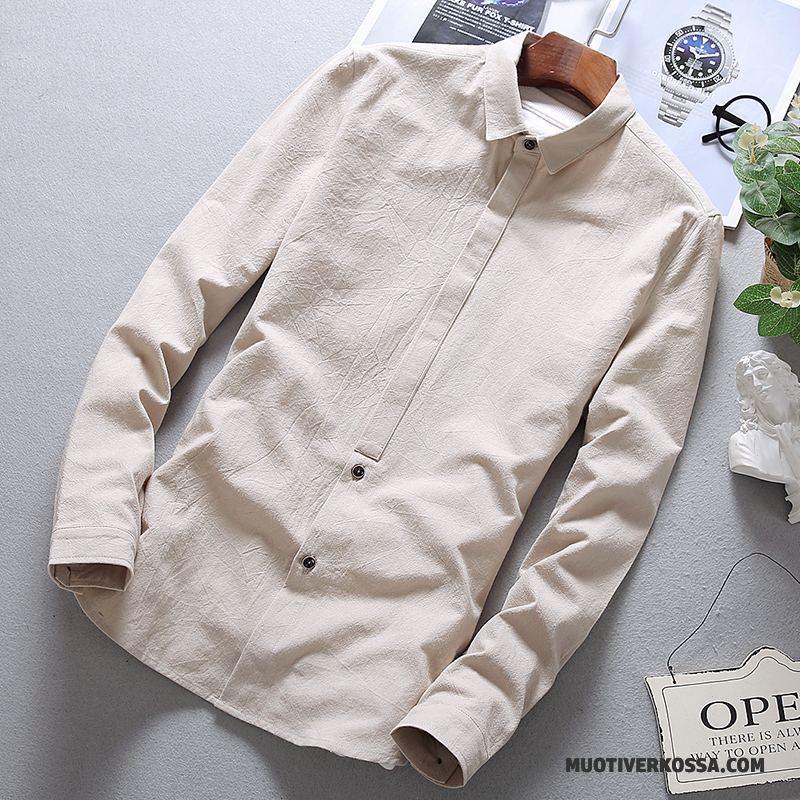 Koszula Męskie Tendencja Legginsy Slim Fit Casual Nowy Wiosna Biały