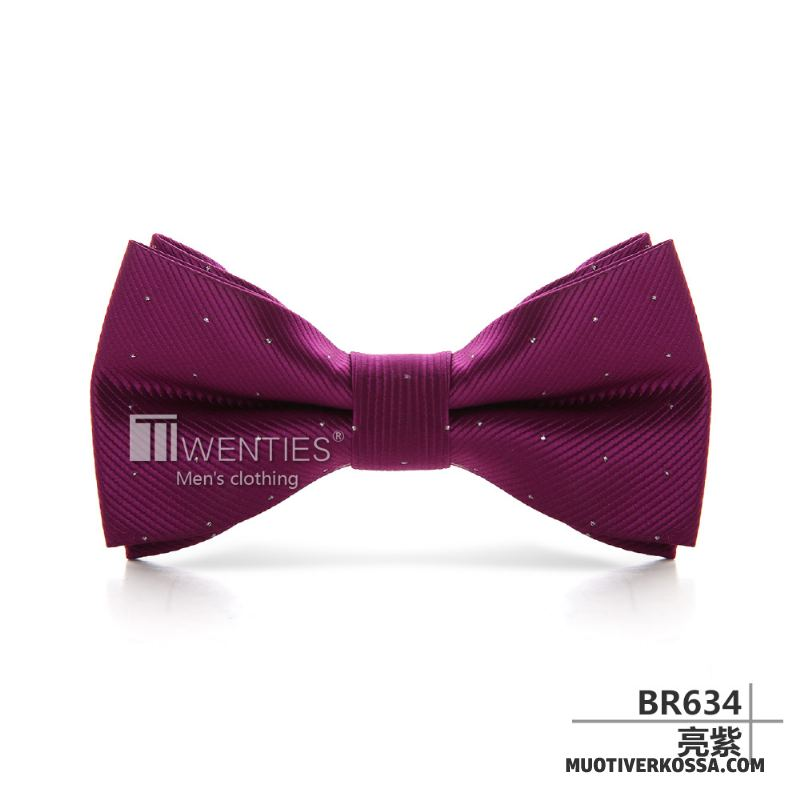 Muszka Męskie Brytyjski Biznes Sukienka Podwójna Ślubna Pan Młody Lazurowy Burgund Fioletowy