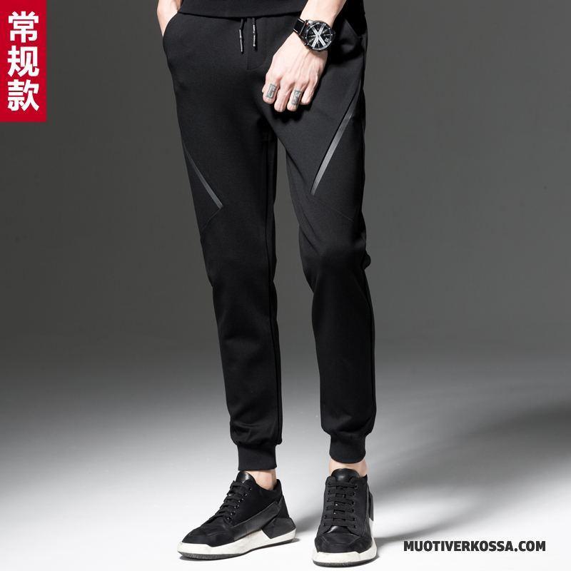 Spodnie Męskie Tendencja Slim Fit Harlan Wiosna Ołówkowe Spodnie Casualowe Spodnie Czarny