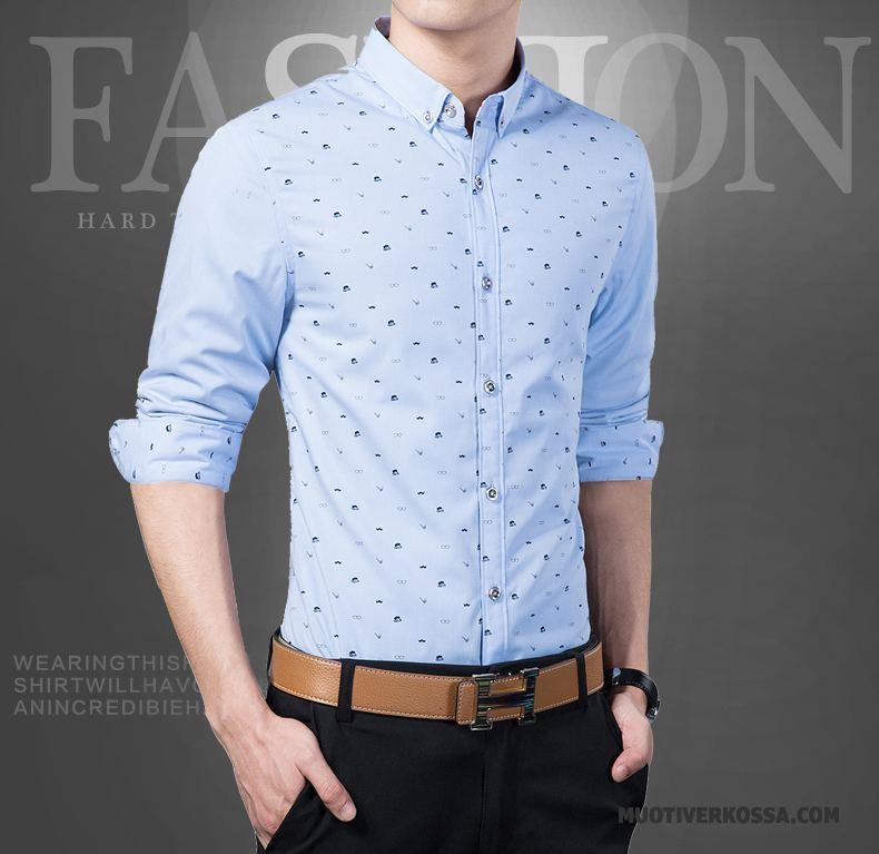 Koszula Męskie 2018 Biznes Cienkie Tendencja Slim Fit Casual