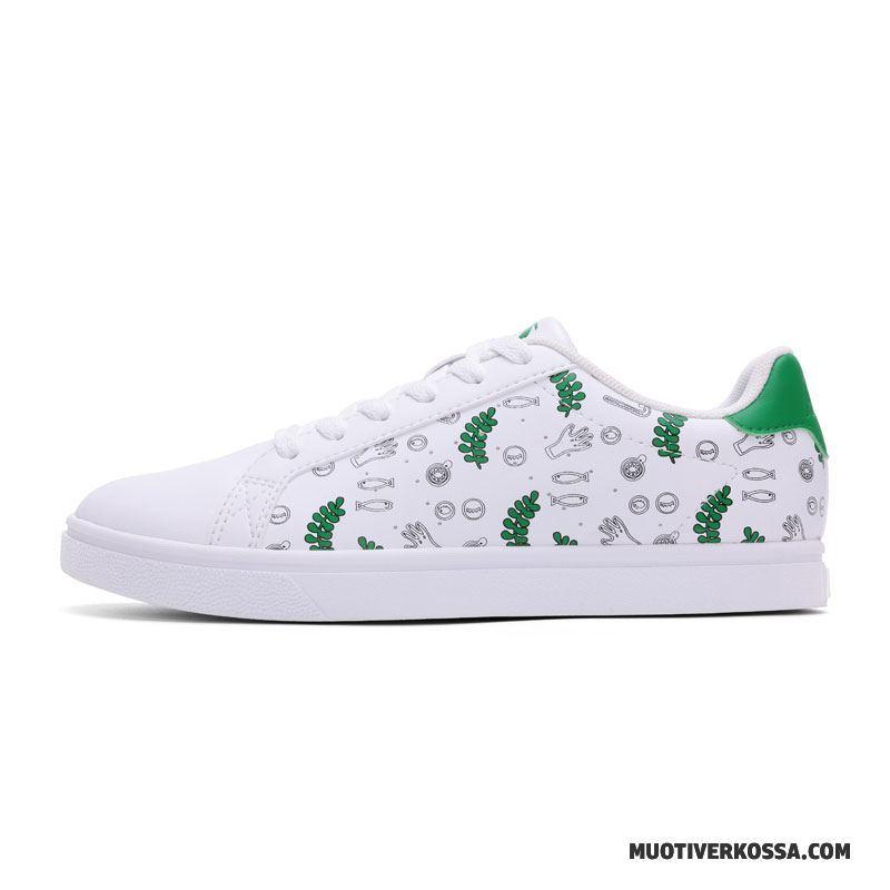 Buty Sportowe Damskie Student Trampki Lato Buty Na Deskorolke Casual Moda Biały Zielony
