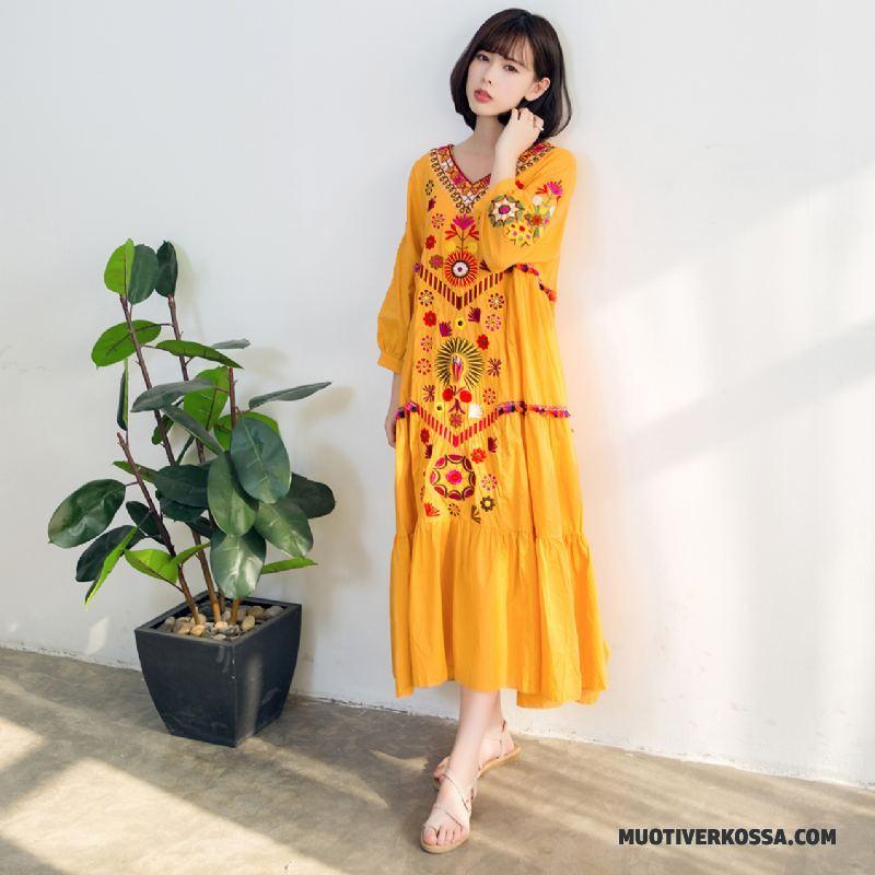 5578a71b0e Sukienka Damskie Krótki Długie Etniczne Duży Rozmiar Lato Plażowe Beżowy  Żółty